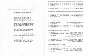 1985 PreTel Program, pages 2 & 3